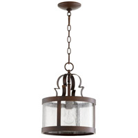 Quorum 3081-39 Champlain 11 inch Vintage Copper Pendant Ceiling Light, Clear Water Glass