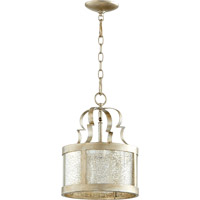 Quorum 3081-60 Champlain 1 Light 11 inch Aged Silver Leaf Pendant Ceiling Light