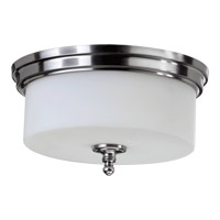 Rockwood 3 Light 14 inch Satin Nickel Flush Mount Ceiling Light