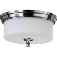 Quorum 3090-14-65 Rockwood 3 Light 14 inch Satin Nickel Flush Mount Ceiling Light