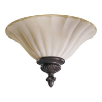 Coronado 2 Light 13 inch Gilded Bronze Flush Mount Ceiling Light