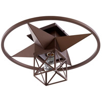Quorum 3107-17-86 Signature 1 Light 17 inch Oiled Bronze Semi Flush Mount Ceiling Light