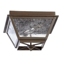 Quorum International Emile 2 Light Outdoor Ceiling Light in Oiled Bronze 3124-13-86