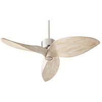 Quorum 31523-65 Hawkeye 52 inch Satin Nickel with Weathered Oak Blades Ceiling Fan