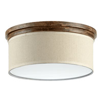 Telluride 3 Light 18 inch Early American Flush Mount Ceiling Light