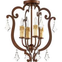 Quorum 319-4-39 Montgomery 4 Light 17 inch Vintage Copper Semi-Flush Mount Ceiling Light