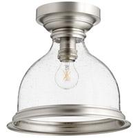 Quorum 3193-12-65 Signature 1 Light 12 inch Satin Nickel Flush Mount Ceiling Light