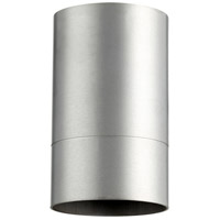 Quorum 320-16 Cylinder 1 Light 4 inch Brushed Aluminum Flush Mount Ceiling Light