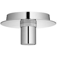 Quorum 322-62 Modern Keyless 1 Light 6 inch Polished Nickel Flush Mount Ceiling Light