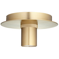 Quorum 322-80 Modern Keyless 1 Light 6 inch Aged Brass Flush Mount Ceiling Light