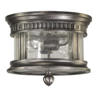 Quorum International Presidio 2 Light Outdoor Ceiling Light in Silver Noir 3222-12-91