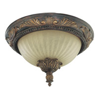 Madeleine 2 Light 14 inch Corsican Gold Flush Mount Ceiling Light