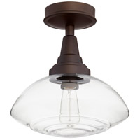 Quorum 3240-13-86 Signature 1 Light 13 inch Oiled Bronze Semi Flush Mount Ceiling Light
