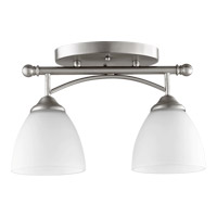 Brooks 2 Light 6 inch Satin Nickel Ceiling Mount Ceiling Light