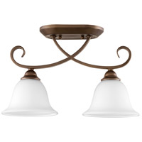 Quorum 3253-2-186 Celesta 7 inch Oiled Bronze Ceiling Sink Ceiling Light in Satin Opal, Satin Opal