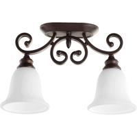 Quorum 3254-2-186 Bryant 2 Light 7 inch Oiled Bronze Semi-Flush Mount Ceiling Light
