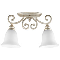 Quorum 3254-2-60 Bryant 7 inch Aged Silver Leaf Ceiling Sink Ceiling Light Satin Opal