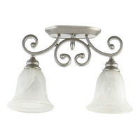 Quorum 3254-2-64 Bryant 2 Light 7 inch Classic Nickel Flush Mount Ceiling Light
