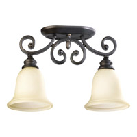 Quorum 3254-2-86 Bryant 2 Light 7 inch Oiled Bronze Flush Mount Ceiling Light