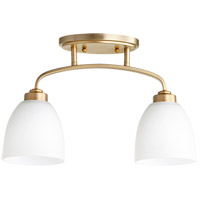 Reyes 2 Light Aged Brass Rail Light Ceiling Light