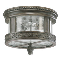 Quorum International Dauphine 2 Light Outdoor Ceiling Light in Etruscan Sienna 3280-12-43