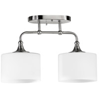 Quorum 3290-2-65 Rockwood 2 Light 7 inch Satin Nickel Flush Mount Ceiling Light