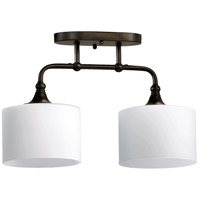 Quorum 3290-2-86 Rockwood 2 Light 7 inch Oiled Bronze Flush Mount Ceiling Light