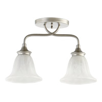 Quorum 3294-2-64 Randolph 2 Light 7 inch Classic Nickel Flush Mount Ceiling Light