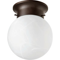 Ball 1 Light 6 inch Oiled Bronze with Faux Alabaster Ceiling Mount Ceiling Light