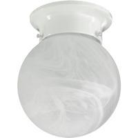 Quorum International Signature 1 Light Flush Mount in White 3304-686