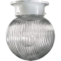 Quorum International Signature 1 Light Flush Mount in White 3307-6-6