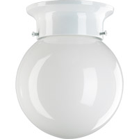 Signature 1 Light 6 inch White Flush Mount Ceiling Light