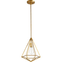 Bennett 1 Light 11 inch Aged Brass Pendant Ceiling Light