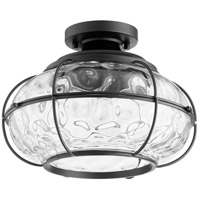 Quorum 3375-13-69 Hudson 1 Light 13 inch Noir Semi Flush Mount Ceiling Light