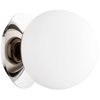 Quorum 339-1-62 Signature 1 Light 6 inch Polished Nickel Semi Flush Mount Ceiling Light