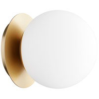 Quorum 339-1-80 Signature 1 Light 6 inch Aged Brass Semi Flush Mount Ceiling Light