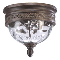 Quorum International Georgia 2 Light Outdoor Ceiling Light in Etruscan Sienna 3400-12-43