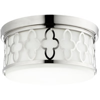 Quorum 342-14-62 Signature 3 Light 14 inch Polished Nickel Flush Mount Ceiling Light
