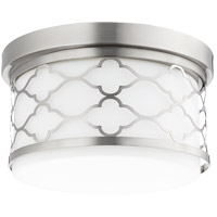 Quorum 343-12-65 Signature 2 Light 12 inch Satin Nickel Flush Mount Ceiling Light