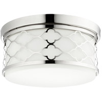 Quorum 343-14-62 Signature 3 Light 14 inch Polished Nickel Flush Mount Ceiling Light