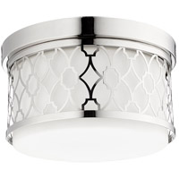 Signature 2 Light 12 inch Polished Nickel Flush Mount Ceiling Light