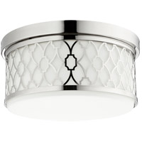 Signature 3 Light 14 inch Polished Nickel Flush Mount Ceiling Light