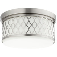 Signature 3 Light 14 inch Satin Nickel Flush Mount Ceiling Light