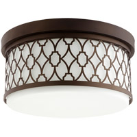 Quorum 344-14-86 Signature 3 Light 14 inch Oiled Bronze Flush Mount Ceiling Light