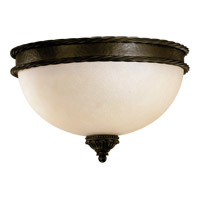 Quorum 3486-15-86 Alameda 3 Light 15 inch Oiled Bronze Flush Mount Ceiling Light