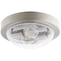 Quorum 3502-11-65 Fort Worth 2 Light 11 inch Satin Nickel Flush Mount Ceiling Light