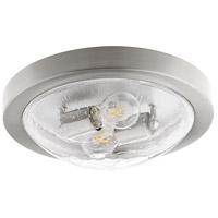 Quorum 3502-13-65 Fort Worth 2 Light 13 inch Satin Nickel Flush Mount Ceiling Light