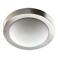 Quorum 3505-13-65 Signature 2 Light 13 inch Satin Nickel Flush Mount Ceiling Light