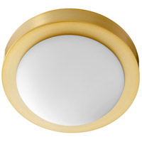 Quorum 3505-9-80 Signature 1 Light 9 inch Aged Brass Flush Mount Ceiling Light