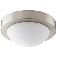 Quorum 3505-9-865 Signature 1 Light 9 inch Satin Nickel Flush Mount Ceiling Light in GU24